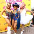 Anitta recebeu Monique Alfradique e Marcus Majella no Bloco das Poderosas