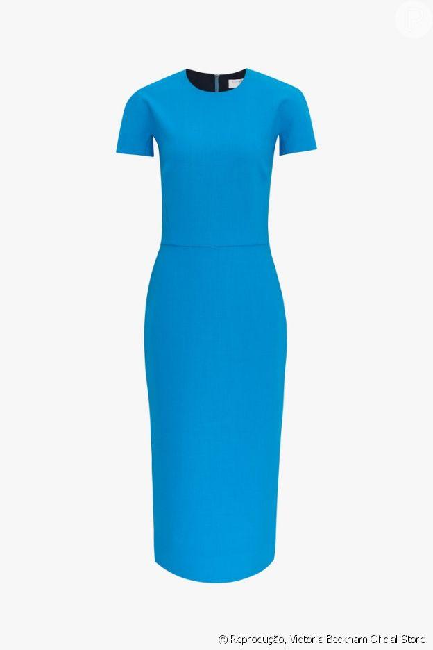 Meghan Markle apostou em um vestido ajustado ao corpo da marca de Victoria Beckham