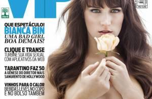 Bianca Bin, vilã em 'Guerra dos Sexos', posa sem blusa para capa de revista
