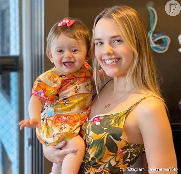 Filha de Thaeme Mariôto ganhou elogios de famosas nas redes sociais da mãe