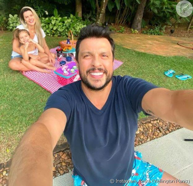 Wellington Muniz, o Ceará, publicou foto da família no Instagram nesta quarta-feira, 1 de abril de 2020
