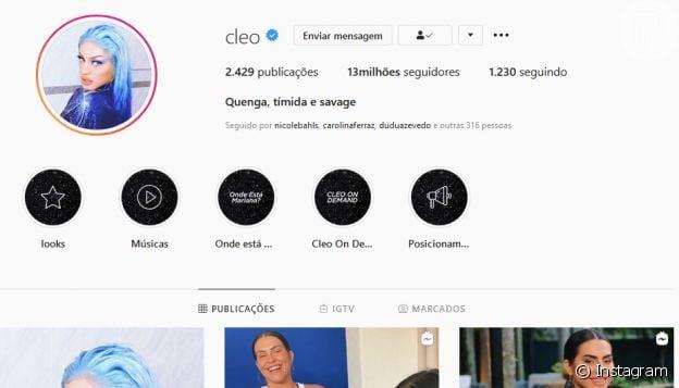 Cleo teve Instagram invadido pela segunda vez