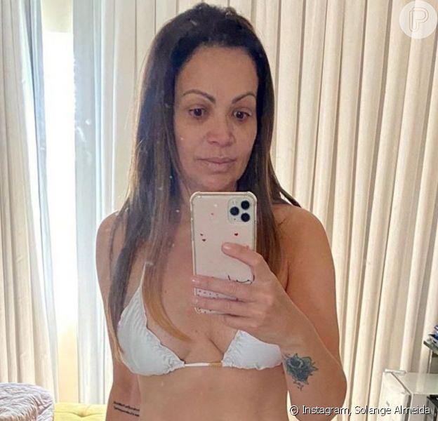 Solange Almeida fez foto sem maquiagem nesta sexta-feira, 8 de maio de 2020