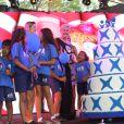 Xuxa Meneghel na festa dos 25 anos de sua fundação