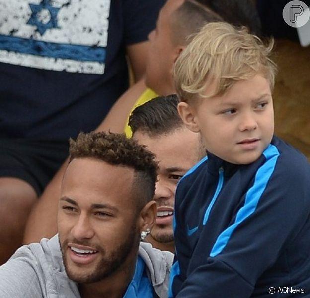 Filho de Neymar deu 'bronca' no pai após ouvir palavrão do jogador