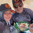 Maraisa mostra almoço com Fabrício Marques durante pesca esportiva em resort em Goiás