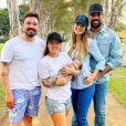 Fernando Zor e Maiara tietam filho de Sorocaba e Biah Rodrigues nesta segunda-feira, 6 de julho de 2020