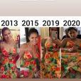 Simone exibe fotos usando o mesmo vestido em anos diferentes