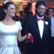 Fernando Caruso se casa e recebe Marcelo Adnet e Dani Calabresa em festa no RJ