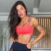 Aline Riscado ganha 6 kg e mostra barriga em vídeo: 'Corpo é questão de ângulo'