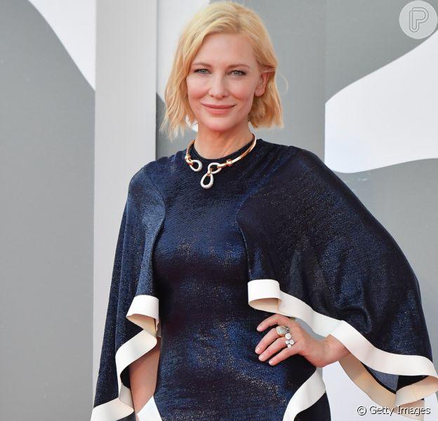 Vestido repetido e pandemia em discurso: Cate Blanchett abre Festival de Veneza nesta quarta-feira, dia 02 de setembro de 2020