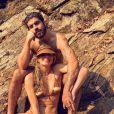 De biquíni tie dye, Grazi Massafera curtiu cachoeira em viagem para o Mato Grosso com o namorado, Caio Castro, nesta sexta-feira, 11 de setembro de 2020