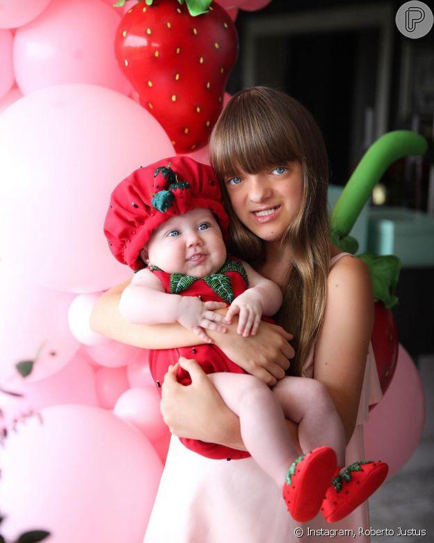 Roberto Justus mostra filha Rafaella com irmã Vicky no colo e ganha comentário de Ticiane Pinheiro