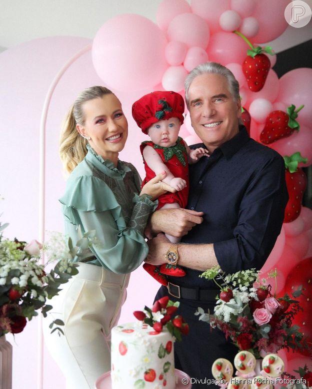 Ana Paula Siebert e Roberto Justus celebram 4 meses da filha com festa temática