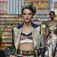 Na passarela da Dolce & Gabbana, estampas em todo o conjunto