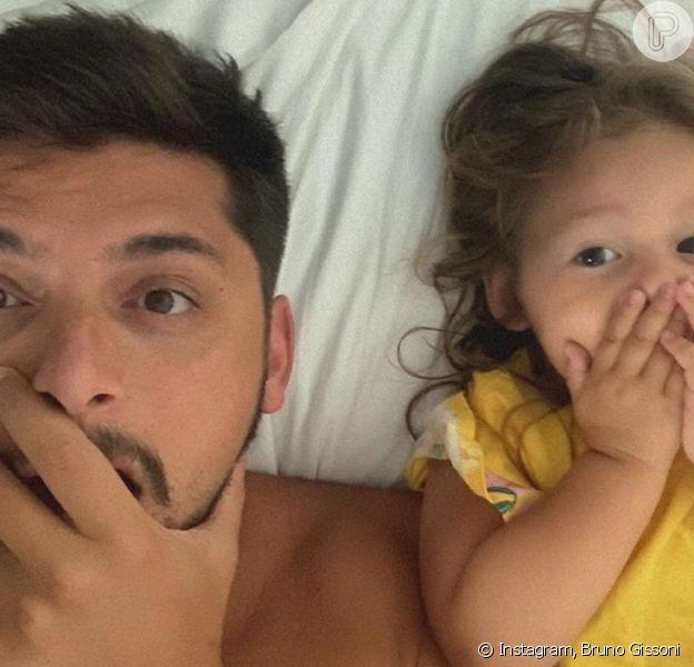 Bruno Gissoni comenta sucesso da filha, Madalena, na web