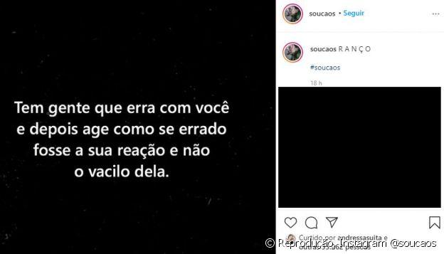 Andressa Suita curte post e fãs apontam indireta para Gusttavo Lima