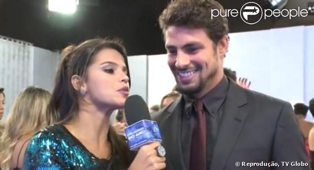 Cauã Reymond participa do prêmio Melhores do Ano, no 'Domingão do Faustão', da TV Globo, em 3 de março de 2013