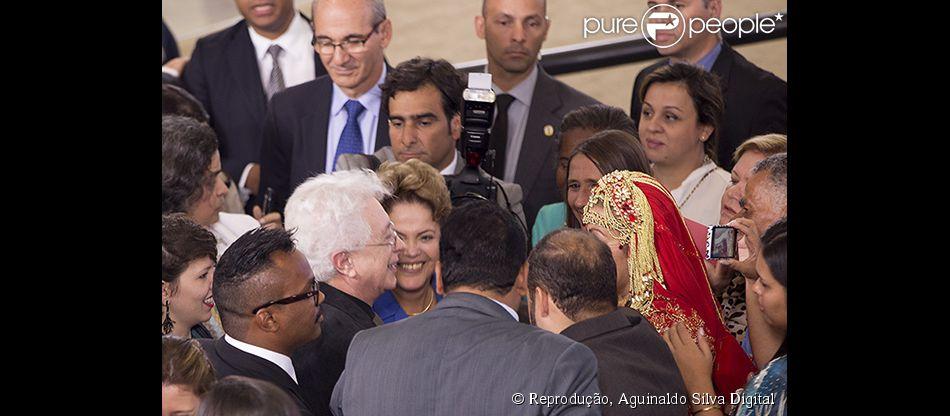 Aguinaldo Silva foi tietado pela presidenta Dilma Rousseff durante uma festa no Palácio do Planalto