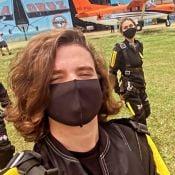 Radicais! Sasha Meneghel e João Figueiredo saltam de paraquedas: 'Melhor experiência'
