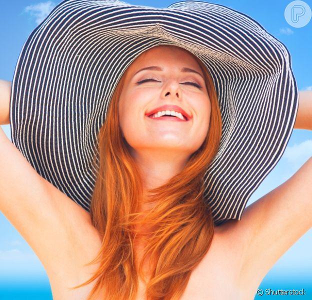 Saiba como cuidar do cabelo ruivo no verão!