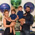 Andressa Suita e Gusttavo Lima têm dois filhos: Samuel, de 2 anos, e Gabriel, de 3 anos