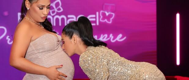 De biquíni, Simone dança com Simaria e exibe barriga de gravidez: 'Enorme'