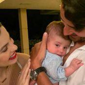 Filho de Sthefany Brito faz 2 meses e encanta por beleza em fotos com pais: 'Lindo!'