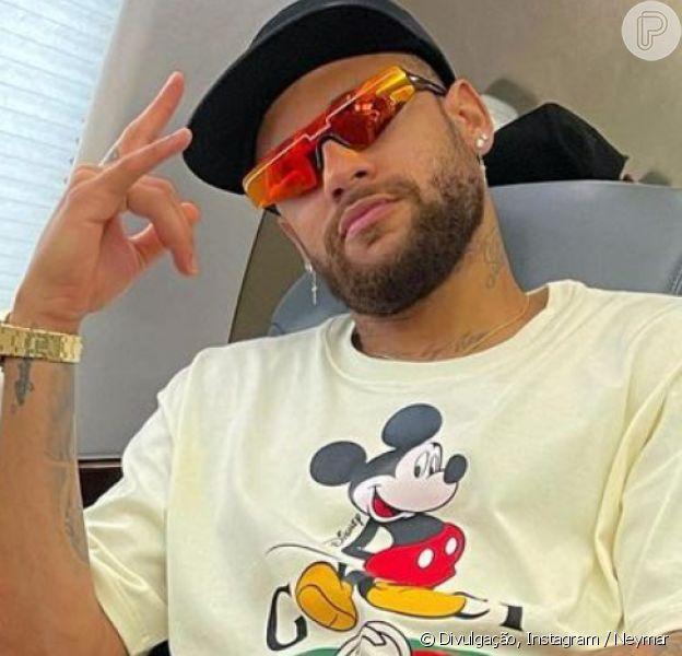 Neymar ironiza críticas ao deixar o Brasil após Réveillon, em 2 de janeiro de 2021
