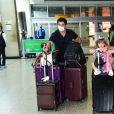 Sabrina Sato, Duda Nagle e Zoe desembarcam no aeroporto de Congonhas em São Paulo após temporada no Rio de Janeiro, nesta segunda-feira, 11 de janeiro de 2021
