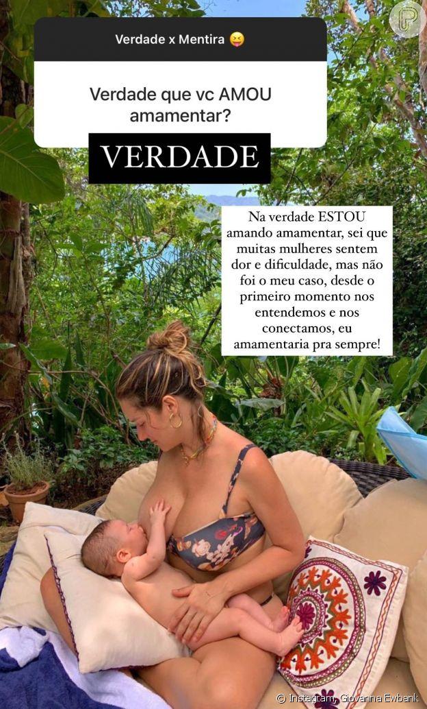 Giovanna Ewbank falou sobre amamentação do filho caçula