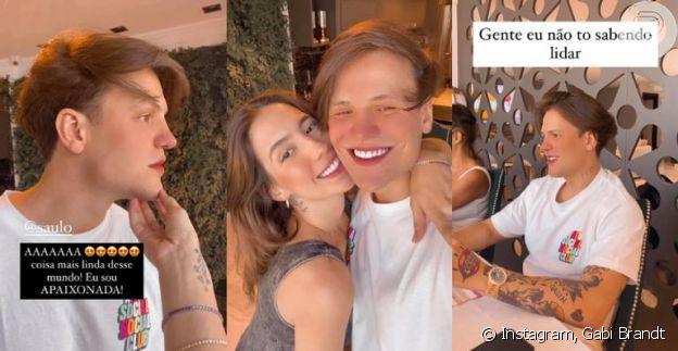 Saulo Poncio muda o visual e surpreende a mulher, Gabi Brandt, em aniversário