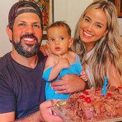 Sorocaba e Biah Rodrigues comemoram os 8 meses do filho, Theo: 'Tema família'