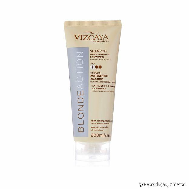 O shampoo Blonde Action da Vizcaya foi desenvolvido para cabelos loiros e claros