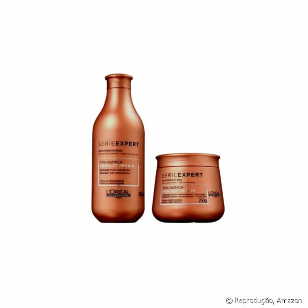 O Kit Absolut Repair faz uma reconstrução profunda nos cabelos após a coloração