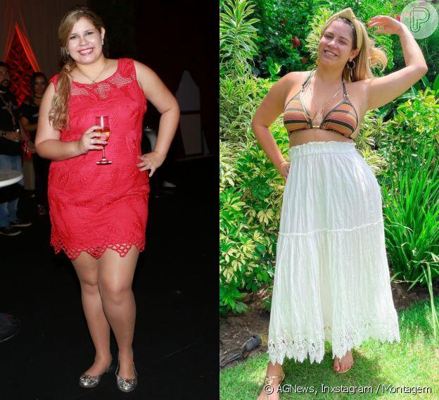 Marília Mendonça conta que está no seu menor peso