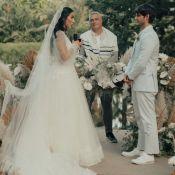 Vestido de noiva dois em um: Jade Seba inova com detalhe em look de casamento