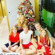 Angélica viajou com a família para o Caribe