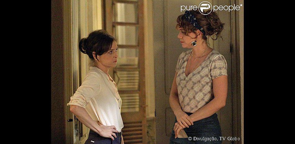 'Império': Cristina ouve Cora xingar Eliane e confessar desejo por Zé Alfredo