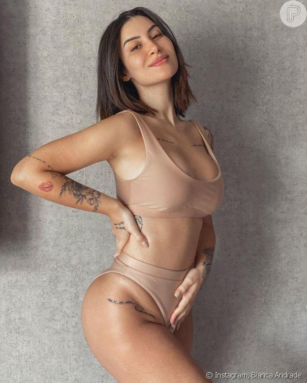 Bianca Andrade mostrou o corpo na 16ª semana de gravidez em foto na web