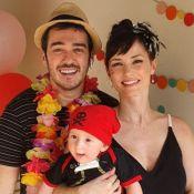Filho de Marcos Veras e Rosanne Mulholland usa fantasia de pirata em festa de 6 meses