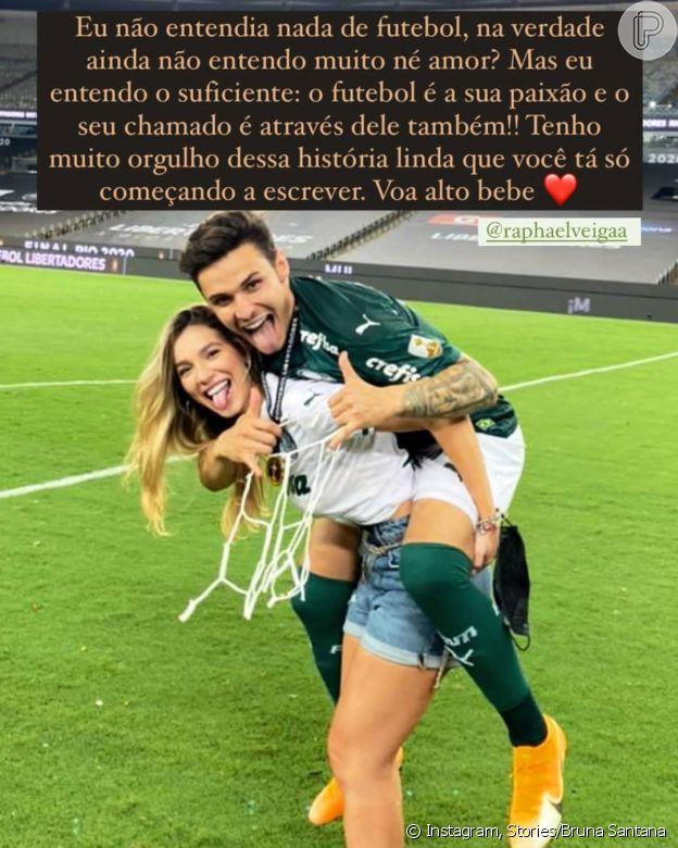 Irmã de Luan Santana, Bruna se declara para namorado jogador