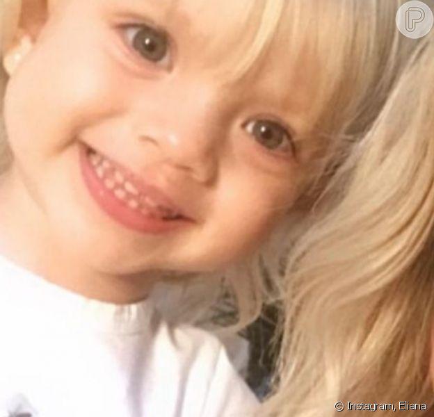 Eliana elogiou a intimidade da filha, Manuela, com as câmeras: 'Miss Simpatia'
