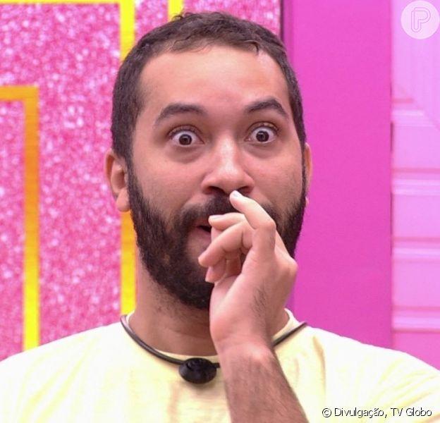 'BBB 21': Gilberto admite barulhos na hora H: 'Tô confessando aqui que no momento eu faço sons sonoros altos'