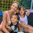 Ticiane Pinheiro é mãe de Rafaella, 11 anos, e Manuella, 1 ano
