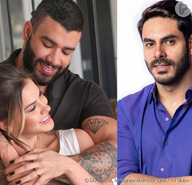 Gusttavo Lima e Andressa Suita viraram assunto no 'Big Brother Brasil 21'