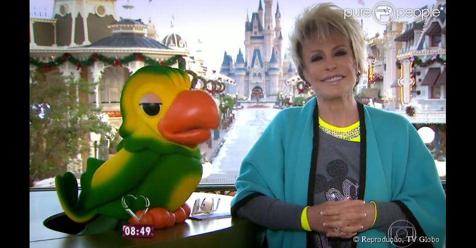 Ana Maria Braga se emociona ao apresentar 'Mais Você' direto da Disney: 'Grande sonho'