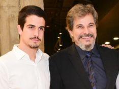 Enzo surge bebê em foto com Edson Celulari e festeja aniversário do pai: 'Respeito e admiro'