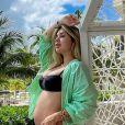 Virgínia Fonseca em compartilhando evolução da primeira gravidez do marido, Zé Felipe