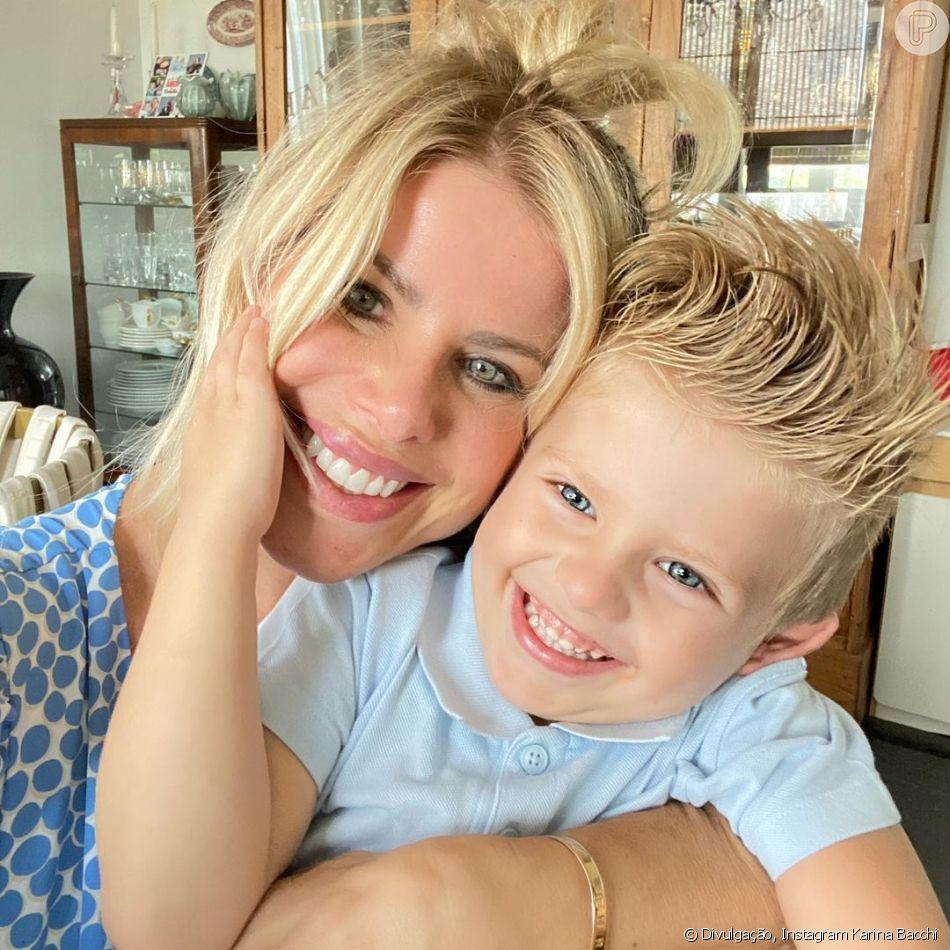 Filho de Karina Bacchi e Amaury Nunes, Enrico tem 3 anos de idade